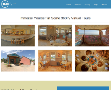 Screenshot of 360ify.com website.